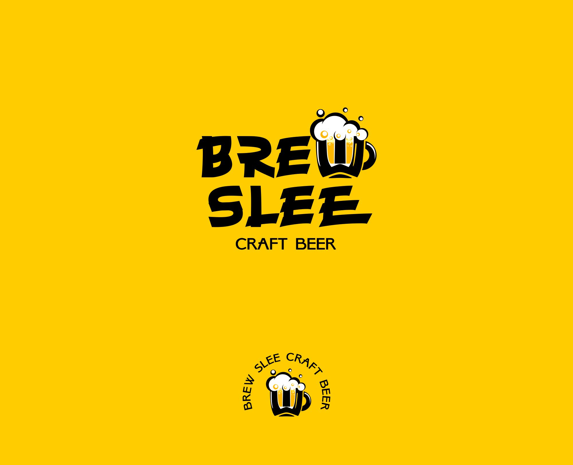 "Логотип крафтовой пивоварни ""BrewSlee"""